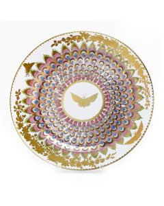 Gold Butterfly Tin Plate