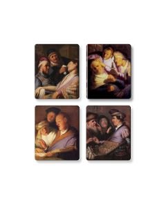 Rembrandt's First Paintings Set Of Four Magnets