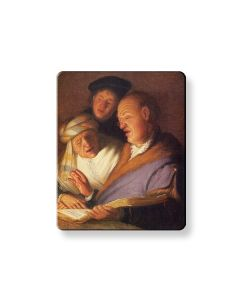 Rembrandt's 'The Three Singers' Fridge Magnet