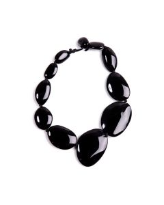 Short Riverstones Black Necklace