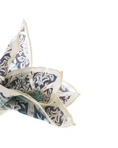 William Morris 'Broche' Silk Pocket Square