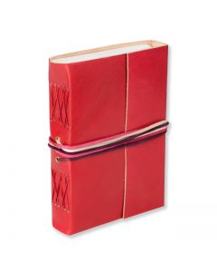 3 String Journal Leather - Red